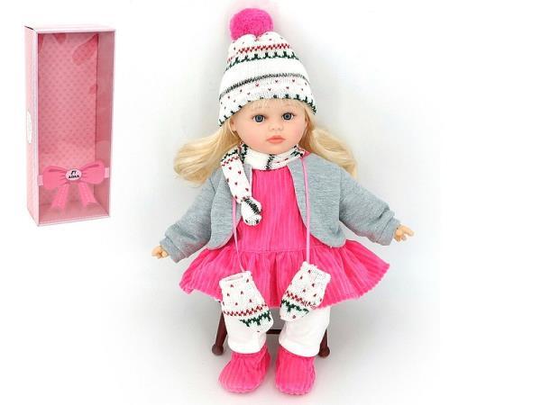 Lalka dziewczynka zima z dźwiękiem 40cm w pudełku 526303 ADAR
