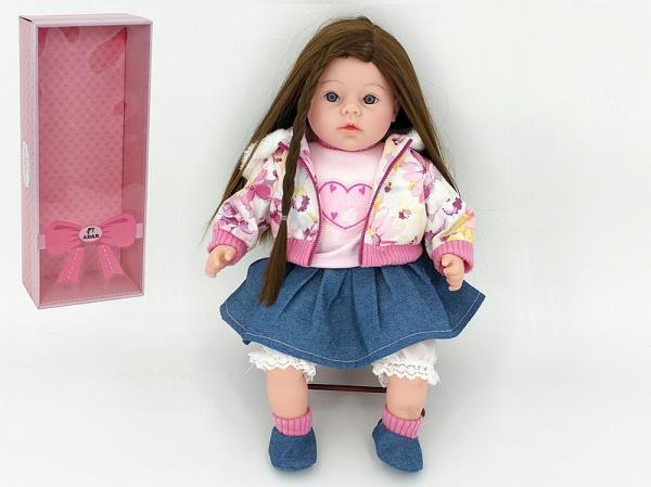 Lalka 45 cm długie włosy z głosem w pudełku 526136 ADAR