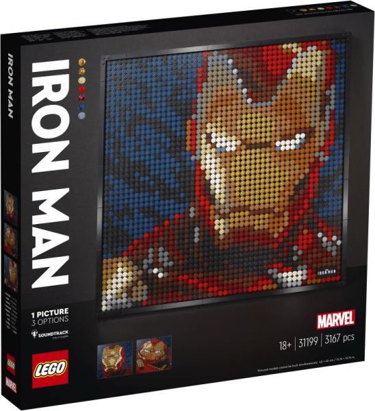 PROMO LEGO 31199 ART Iron Man z wytwórni Marvel Studios p3