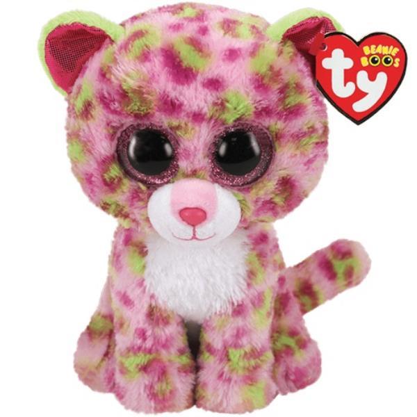 TY BEANIE BOOS Lainey różowy leopard 24cm 36476