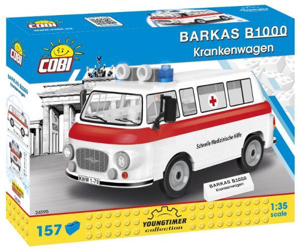 COBI 24595 Youngtimer BARKAS B1000 Krankenwagen 157 klocków