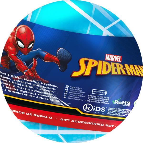 Zegarek cyfrowy z akcesoriami Spider-Man w kuli MV15778 Kids Euroswan p.18 cena za 1 sztukę.
