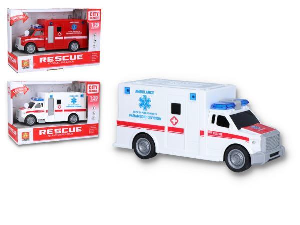 Auto ambulans światło, dźwięk 122769 cena za 1 szt