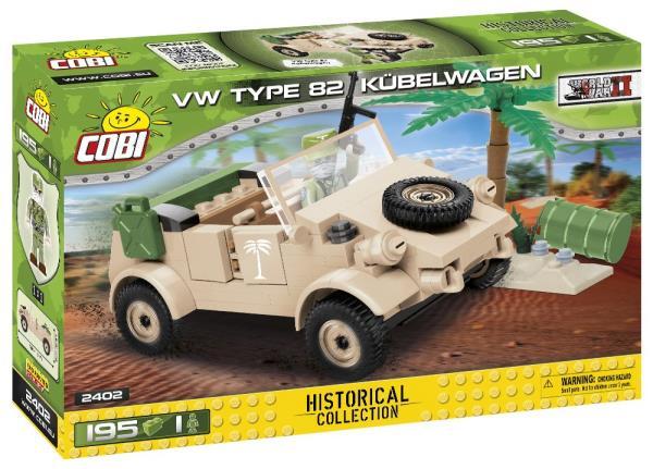 COBI 2402 Historical Collection WWII VW type 82 KUBELWAGEN 195 klocków