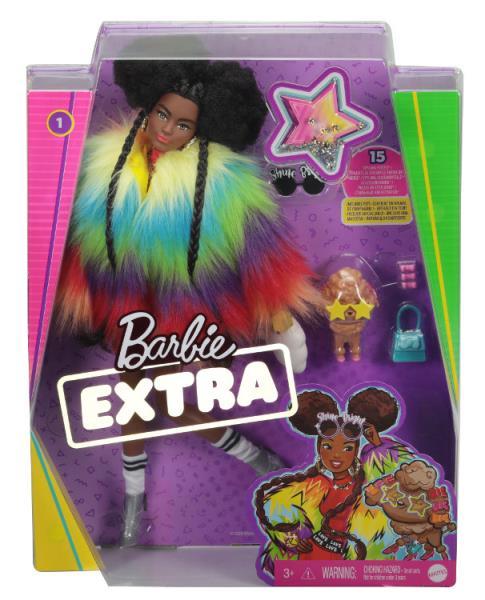 Barbie Lalka EXTRA MODA + akcesoria 1 GVR04 GRN27 MATTEL