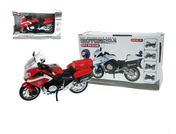 Motocykl Straż 18cm światło, dźwięk 661-012D HIPO