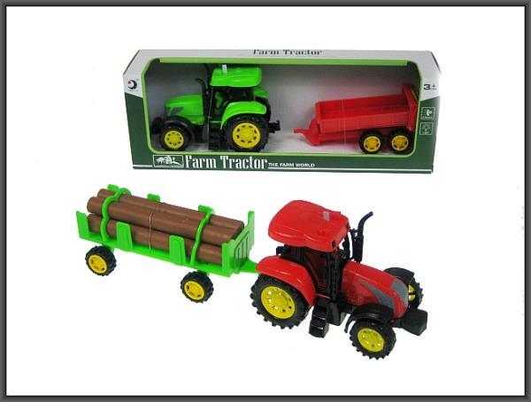 Traktor z przyczepą 30cm światło, dźwięk 2 wzory 1601-3T/4T HIPO cena za 1 szt