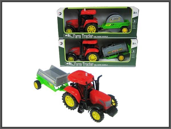 Traktor z przyczepą 28cm światło, dźwięk 3 wzory 1602/2T/5T/7T HIPO cena za 1 szt