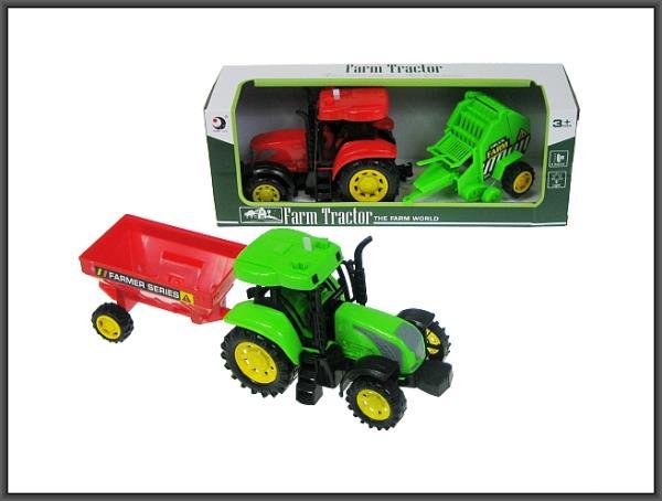 Traktor z przyczepą 28cm światło, dźwięk 2 wzory 1602/3T/4T HIPO cena za 1 szt