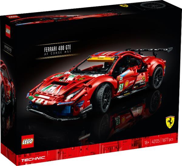 "LEGO 42125 TECHNIC Ferrari 488 GTE ""AF Corse 51"""