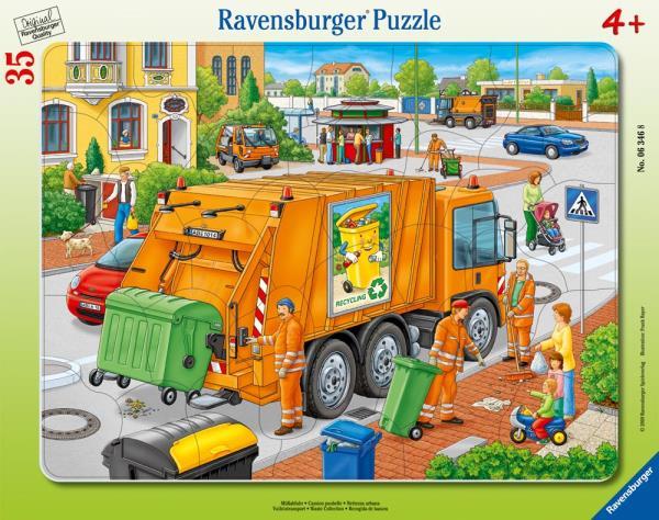 Puzzle 35el ramkowe Śmieciarka 063468 RAVENSBURGER