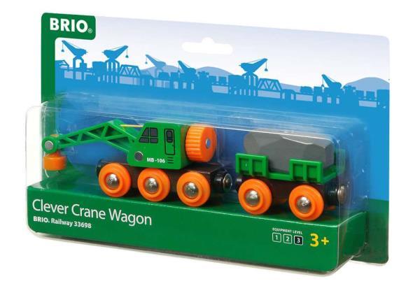 BRIO 33698 Dźwig i wagon