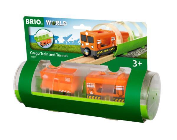 BRIO 33891 Tunel z pociągiem towarowym