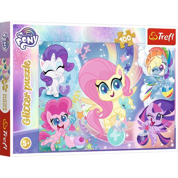 Puzzle 100el brokatowe Błyszczące kucyki. My Little Pony 14821 Trefl
