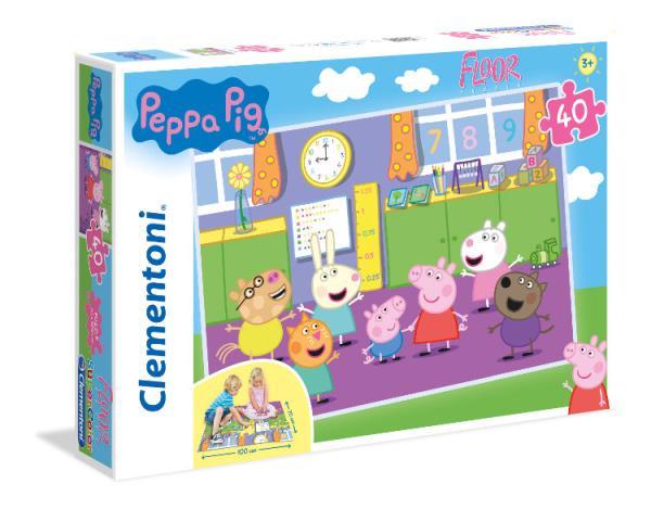 Clementoni Puzzle 40el podłogowe Świnka Peppa 25458
