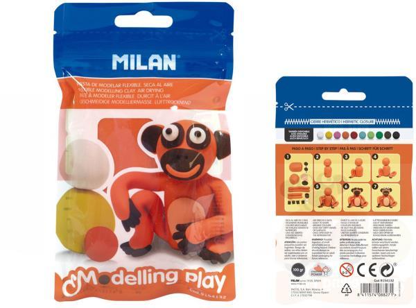 Modelina Air-Dry 100g pomarańczowa 9154132 MILAN