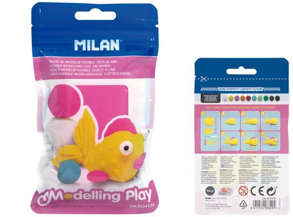 Modelina Air-Dry 100g różowa 9154134 MILAN