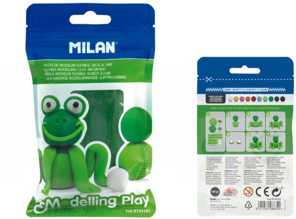 Modelina Air-Dry 100g ciemna zielona 9154161 MILAN