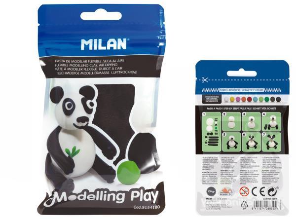 Modelina Air-Dry 100g czarna 9154180 MILAN