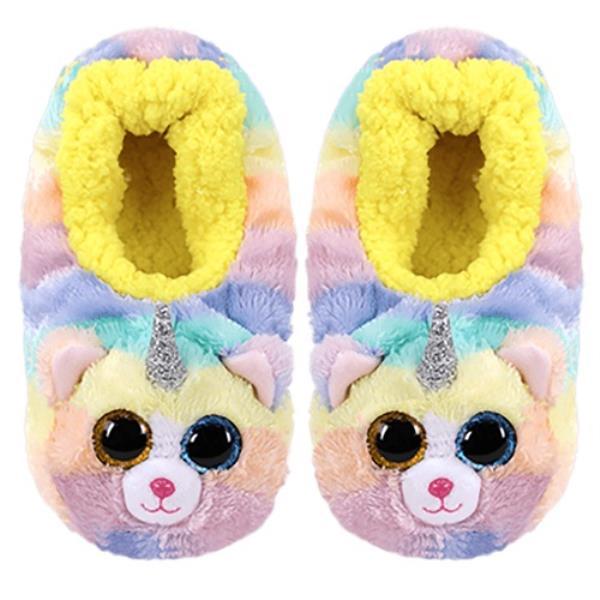 TY Fashion pantofle HEATHER - kot z rogiem rozmiar M (32-34cm)