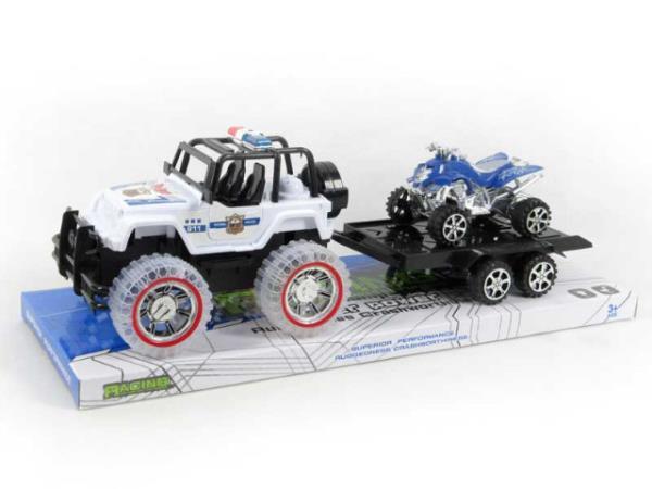 Jeep z przyczepą światło/dźwięk BA1013