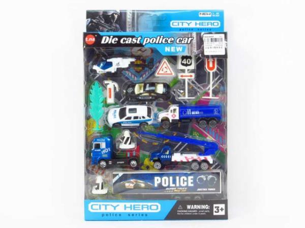 Zestaw aut metalowych Policja BA2074