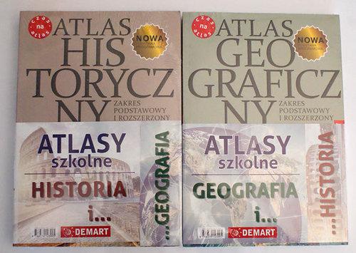 Pakiet edukacyjny Geograficzny i historyczny Atlas do liceum i technikum