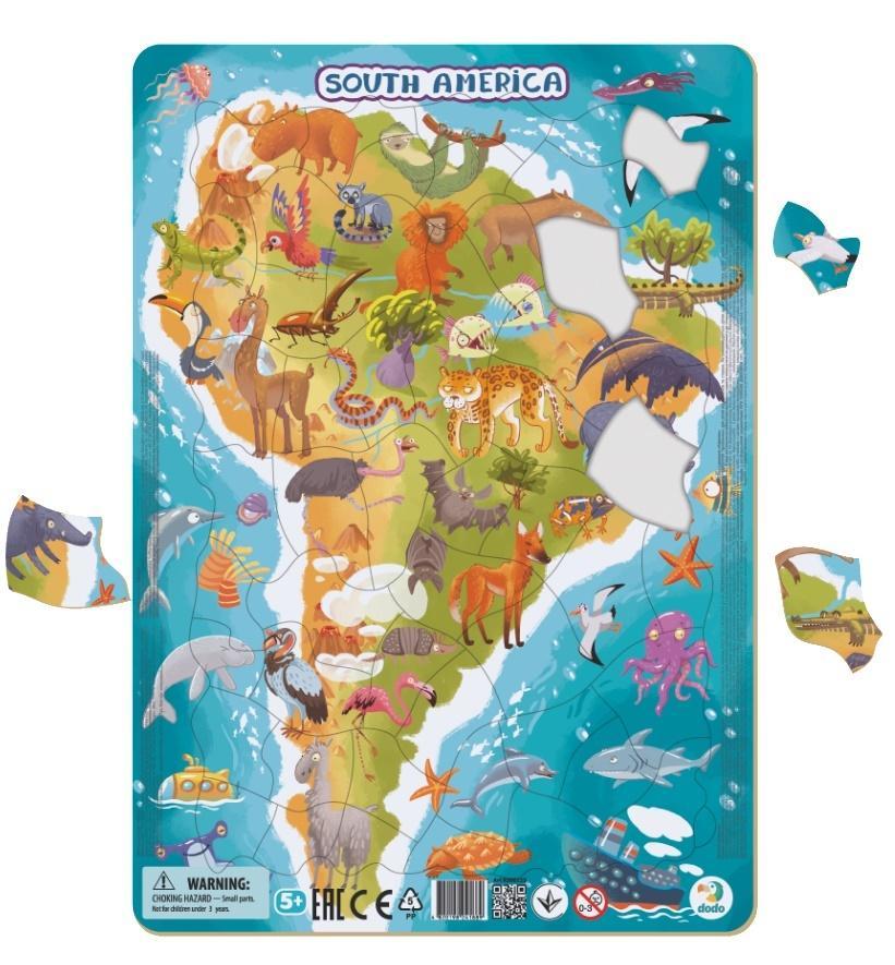 Puzzle ramkowe 53 Ameryka Południowa