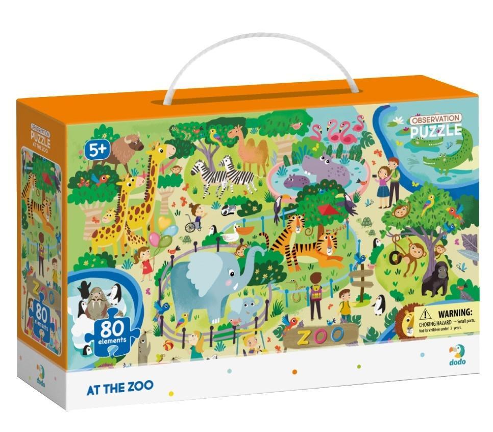 Puzzle obserwacyjne 80 W zoo