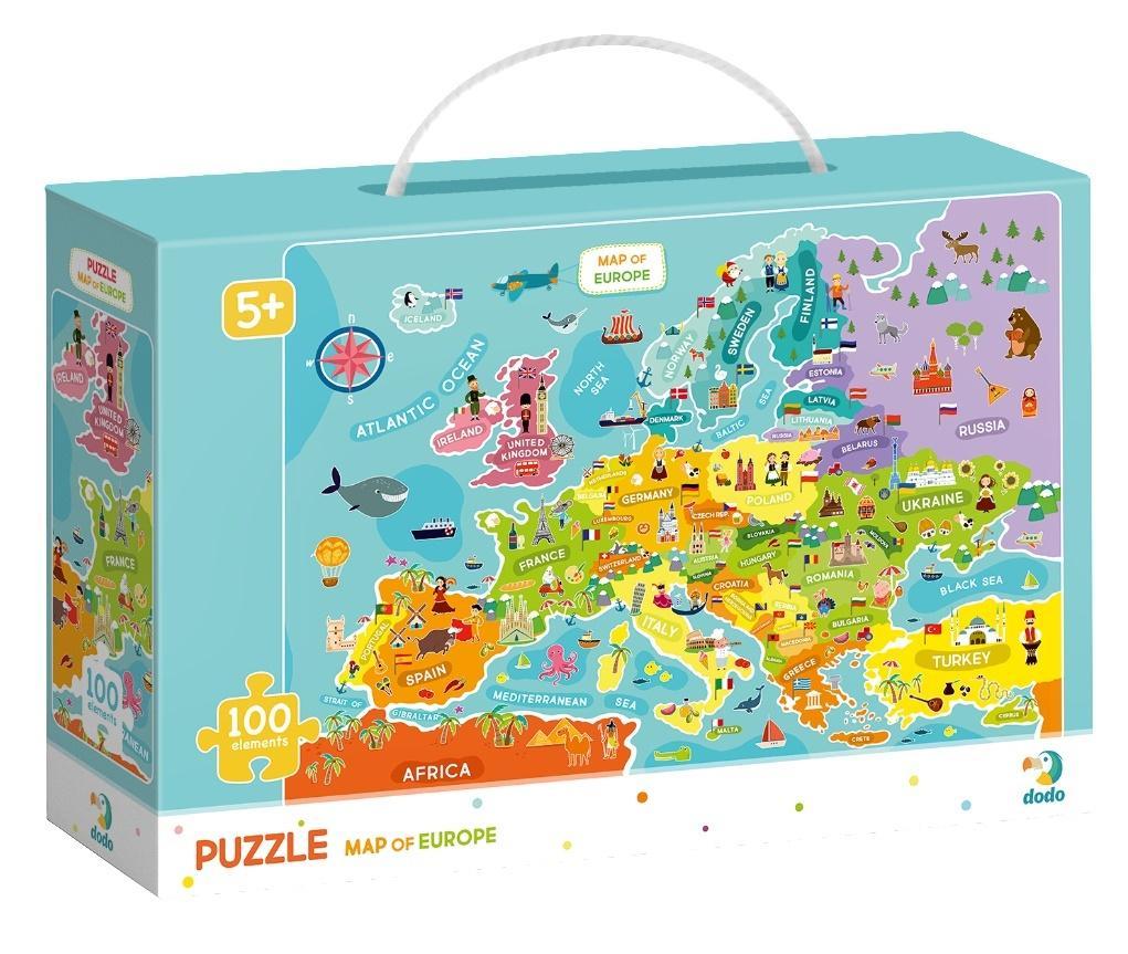 Puzzle 100 Mapa Europy