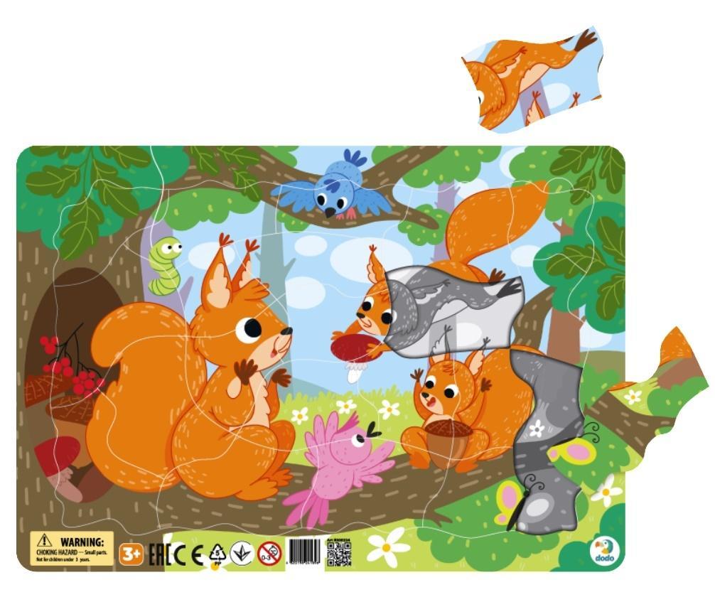 Puzzle ramkowe 21 Wiewiórki