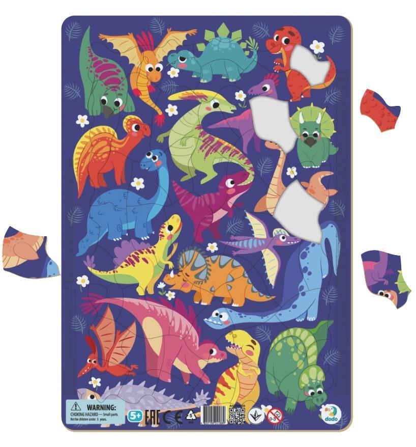 Puzzle ramkowe 53 Dinozaury