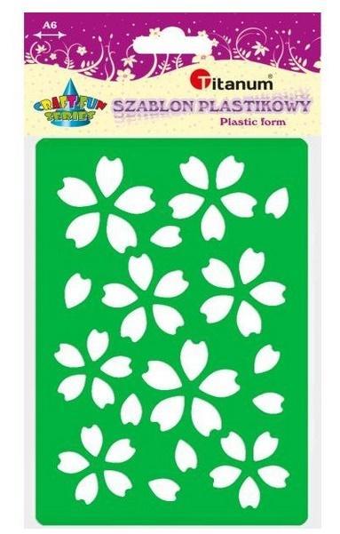 Szablon plastikowy A6 kwiaty zielony, fioletowy