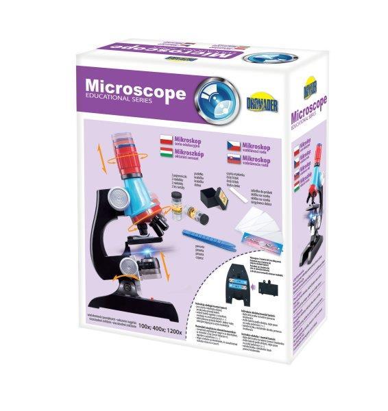 Mikroskop x1200 w pudełku 00414 DROMADER