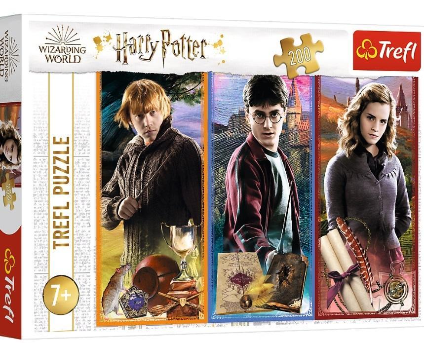 Puzzle 200el W świecie magii i czarów. Harry Potter 13277 Trefl