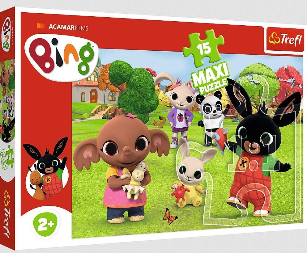 Puzzle 15el Maxi Bing. Bing z przyjaciółmi 14335 Trefl