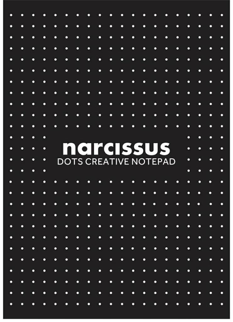 Blok A4/80K Narcisuss kropki czarny (6szt)