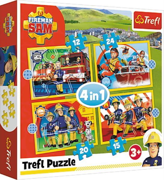 Puzzle 4w1 Pomocny Strażak Sam 34373 TREFL
