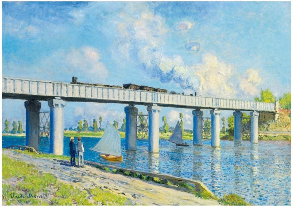 Puzzle 1000 Widok na most kolejowy w Argenteuil