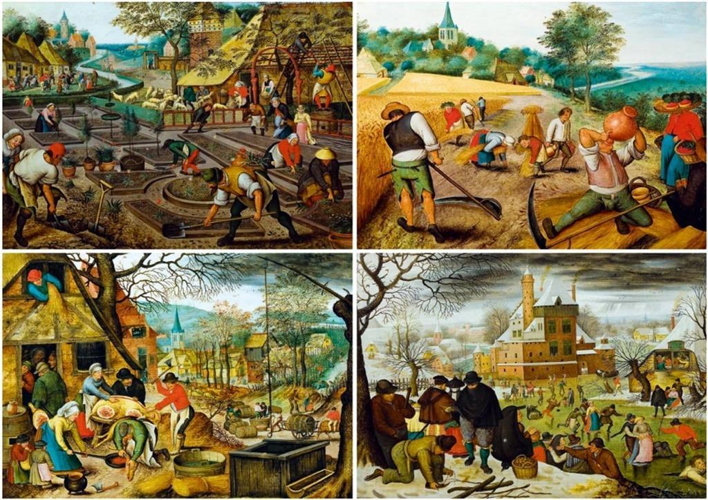 Puzzle 1000 Cztery pory roku, Brueghel