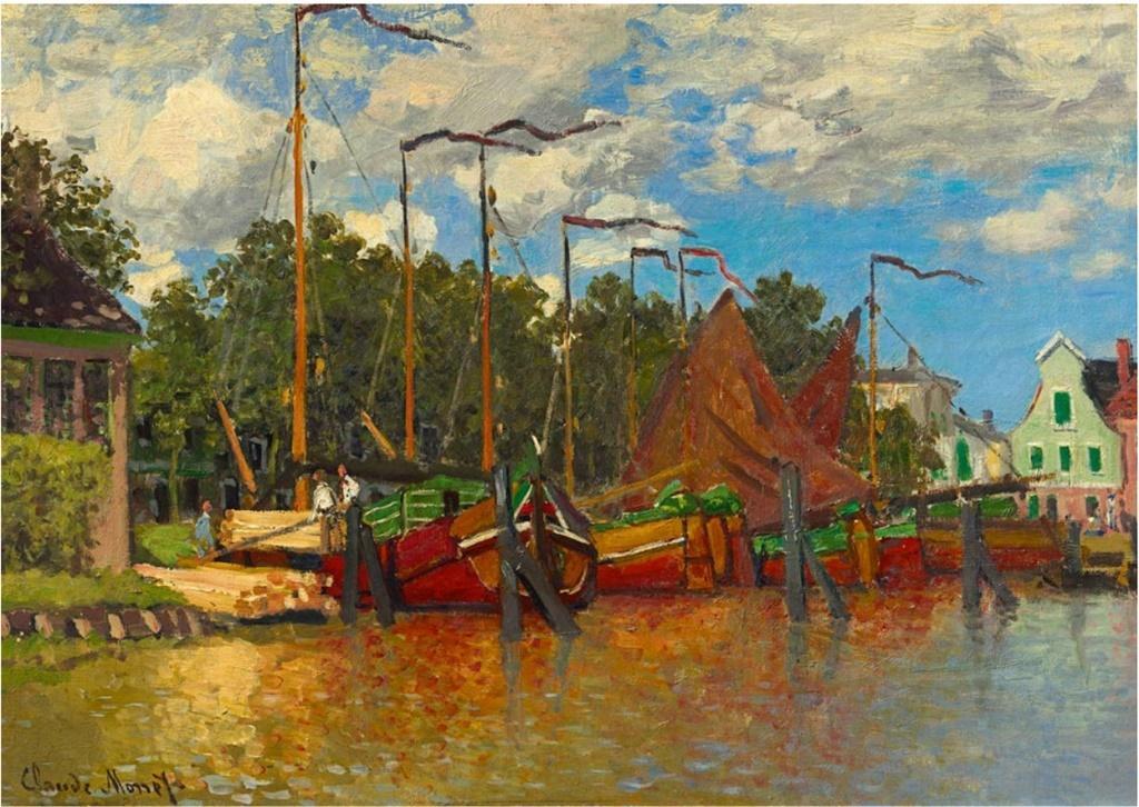 Puzzle 1000 Łódki na jeziorze, Claude Monet, 1871