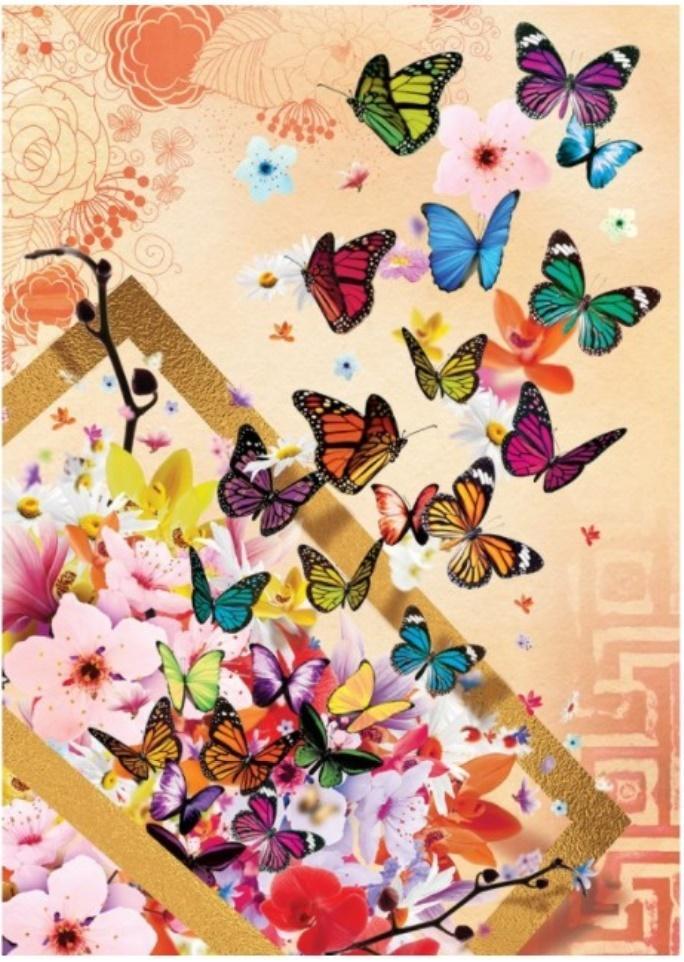 Puzzle 500 Kolorowe motyle