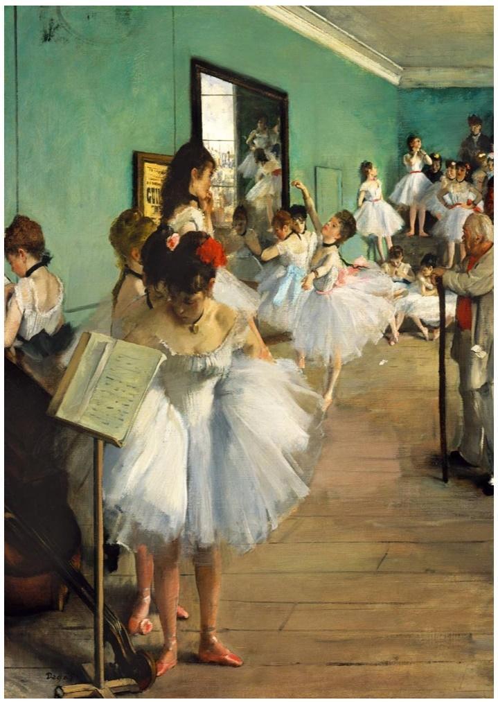 Puzzle 1000 Szkoła tańca, Edgard Degas, 1874
