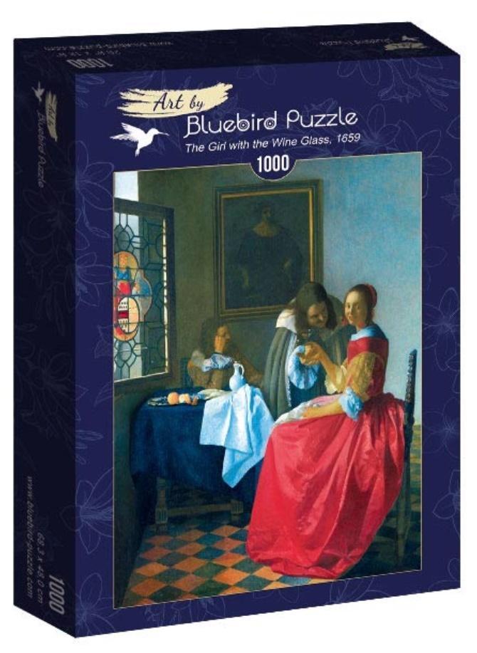 Puzzle 1000 Dziewczyna z kieliszkiem wina