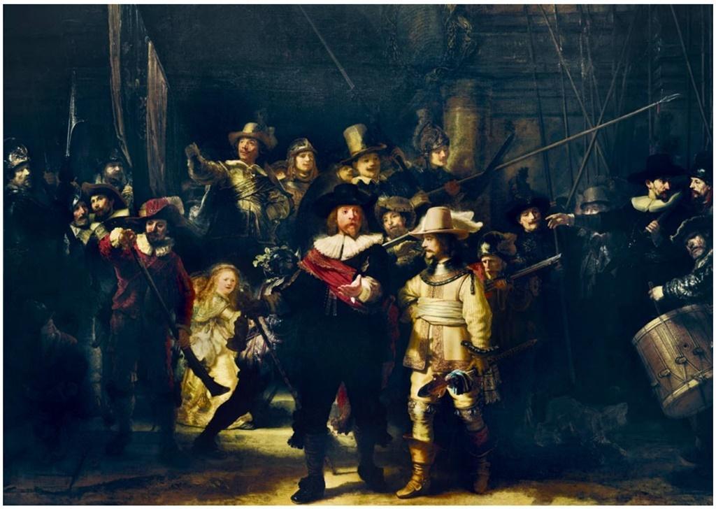 Puzzle 1000 Straż nocna, Rembrand 1642