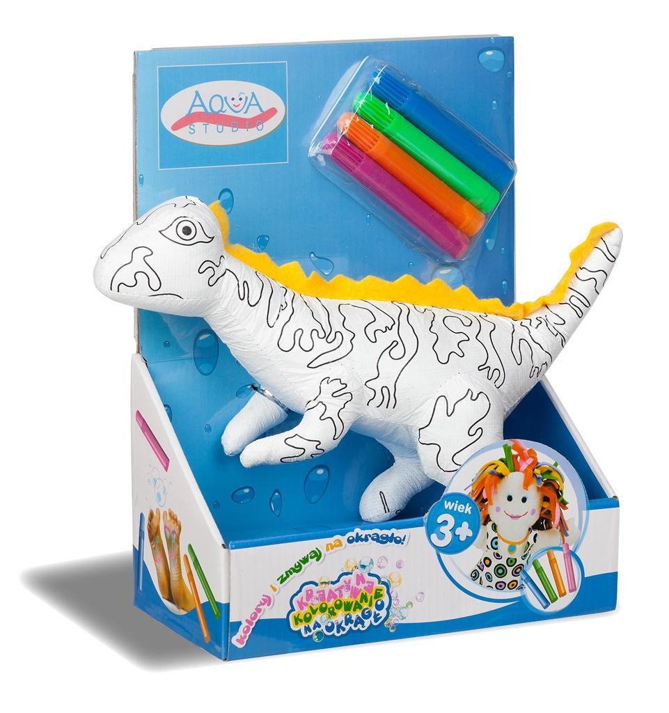 Koloruj na okrągło - Dinozaur