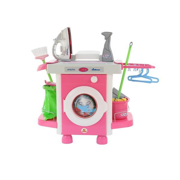 """Polesie 48110 """"Carmen"""" pralka z żelazkiem i akcesoriami w worku"""