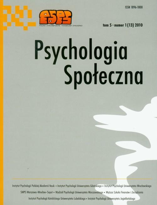 Psychologia społeczna Tom 5/2010