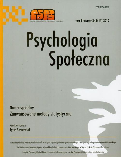Psychologia społeczna 5 nr 2-3(14)2010