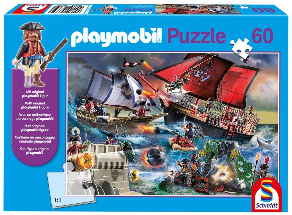 Puzzle 60 Playmobil Piraci + figurka G3